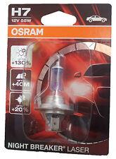 H7 OSRAM NIGHT BREAKER láser + 130% auto lámpara einzelblister 64210nbl-01b