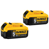DEWALT 20V MAX XR Premium 5 Ah Li-Ion Battery (2-Pc) DCB205-2 New