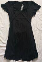 Scarlett & Jo Women's Black Sweatheart Neckline Dress Size 30 New With Tags