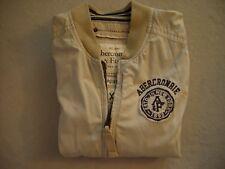 ABERCROMBIE & FITCH Jacke Bull Point Jacket beige hell Gr.  XL = L 100% Original