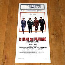 LA GANG DEL PARIGINO Pierrot le Fou locandina poster Alain Delon Deray E18