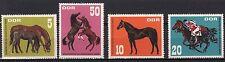 DDR GERMANIA EST 1967 Esposizione Cavalli Corsa  YVERT 999-1002 SG E1021-4 MNH**