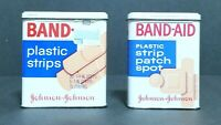 Vintage Johnson and Johnson Band-Aid Plastic Strips Tin & Patch Spot Tin - EMPTY