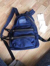 Marc Jacobs Navy Nylon Mini Biker Backpack - VERY WELL LOVED -
