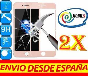 2 Protector Cristal Templado COMPLETO ROSA APPLE IPHONE 6S PLUS PROTECTORES 2X