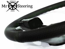 FOR LEXUS LS 400 95-00 PERFORATED LEATHER STEERING WHEEL COVER GREEN DOUBLE STCH