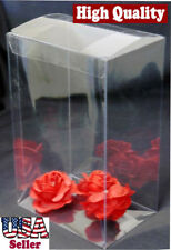 "50 Pcs 3-1/2x3-1/2x6"" Clear Tuck Top Automatic Lock Bottom Plastic Boxes Display"