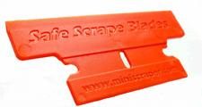 Plastic Razor Blades , T Blade 50% Wider 10 Pack NEW