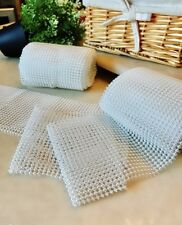 """5 yards Pearl Bead 4.5"""" Garland Ribbon Roll/Table Runner/Wedding/Party deco R162"""