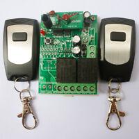 2PCS Wireless Remote Relay RF Control Switch System 2 CH Receiver 433MHZ DC24V