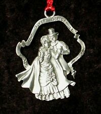 Seagull Pewter Ornaments Victorian Couple Our First Christmas 1994 Canada pwt009
