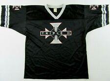 Vintage WWE Wrestling TRIPLE H Black SS Nylon Mesh Football Jersey Size XXXL