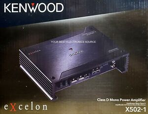 "NEW KENWOOD X502-1 ""X series"", 2-Ohm Stable, Monoblock Car Audio Amplifier"