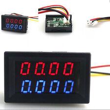 LED DC Dual Display Digital Current Voltage Meter Tester 10A 200V Red + Blue