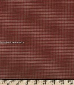Dunroven House H-311 Country Red  ~  Wheat Plaid  Homespun Fabric ~ You Pick