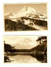 Postcard OR Mt Hood From Lost Lake Cloudcap Inn 2 Cards RPPC OR1