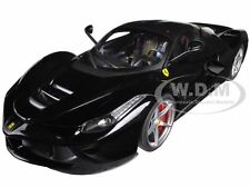 FERRARI LAFERRARI F70 HYBRID ELITE BLACK 1/18 DIECAST MODEL CAR HOTWHEELS BCT80