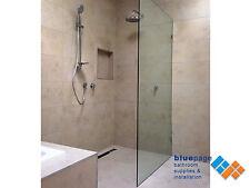 Frameless Shower Screen Walk In Panel Safety Glass  500mm - 800mm X 2000mm DIY