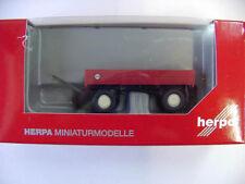 Herpa 076425 Landwirtschaftlicher Anhänger rot 1:87 Neu