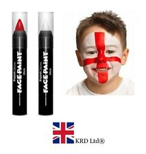 ENGLAND FLAG FACE PAINT SET St George Day World Cup Fancy Dress Accessory Kit UK