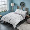 100% Brushed Cotton Duvet Cover Single Double King Size Flannel Xmas Bedding Set