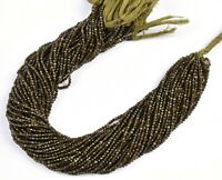 """13"""" Strand Natural Cat's Eye Faceted Rondelle MicroCut Gemstone Beads 2 mm"""