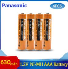 4 Pcs Panasonic 630mAh Ni-Mh Rechargeable 1.2V Batteries Aaa for Cordless Phones