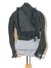 Edwardian Black Silk Bodice / Blouse Sm
