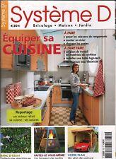 Système D n° 752 Equiper sa cuisine abri de voiture  brasero de jardin