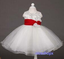 GIRLS Flower Formal Bridesmaid Party Princess Prom Wedding Christening Dress