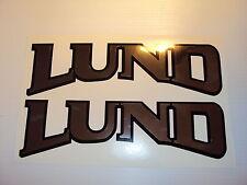 LUND Boat decals graphics marine vinyl chrome