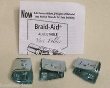 Braid-Aid varifolders: fabric folders braiding rugs, updated style, pre-owned