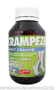 CRAMPEZE Night Cramps 120 caps  :Muscle Cramps:Spasms:Tired Legs