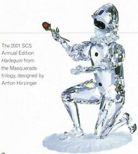 SWAROVSKI SILVER CRYSTAL 2001 ANNUAL ED HARLEQUIN 254044 MINT IN BOX