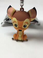 Bambi Figural Keychain Deer Fawn Collectible Key Chain Ring Disney Bambi