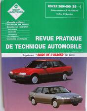 Revue technique automobile RTA neuve  Rover 200 / 400  après 1989