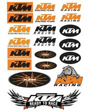 20 Sticker SET KTM Aufkleber Motor Bike Tuning KTM Ready to Race Enduro Naked