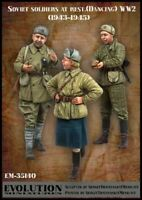 1/35 Resin Figure Model Kit Soviet soldiers at rest (1943 - 1945) WWII Unpainted