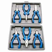 Silverline Mini Pliers Set Long, Flat & Bent Nose, Side/End Cutters, Combination
