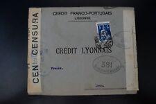 PORTUGAL CARTA CENSURA MILITAR Nº381 CENSORED COVER -> LYON FRANCIA