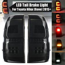 Rear Light Tail Light Assembly for Toyota Hilux Revo 2015-2019 Pair Smoke LED