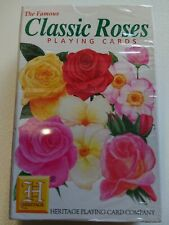 Heritage Classic Roses playing cards gardening horticulture flowers floral gift