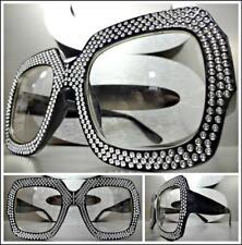 Women's OVERSIZED Vintage Retro Style Thick Black Clear Lens Eye Glasses Frame