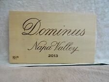 2013  DOMINUS NAPA VALLEY WINE PANEL END (TODAY'S SPECIAL)
