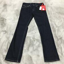 True Religion Ricky Reflective Straight Fit Stretch Denim Jeans Size 31 x 33 New