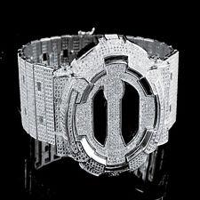 14K White Gold Finish Designer G Shock Metal Band Custom Digital Watch GD100 New