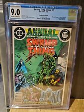SWAMP THING ANNUAL #2 HI GRADE 9.0 CGC CANADIAN PRICE VARIANT WHITE PAGES MOORE