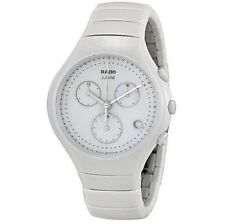 NWOT Ladies Rado True R27832702 White Ceramic Chronograph Swiss Quartz Watch