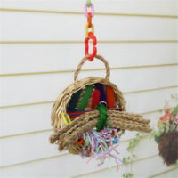 Pet Bird Bites Ball Toy Parrot Chew Swing Hanging Cage Cockatiel Parakeet Supply