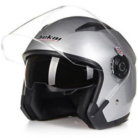 Motorcycle Helmet Open Face Dual Visor Cruiser Scooter Unisex Helmet M/L/XL/XXL